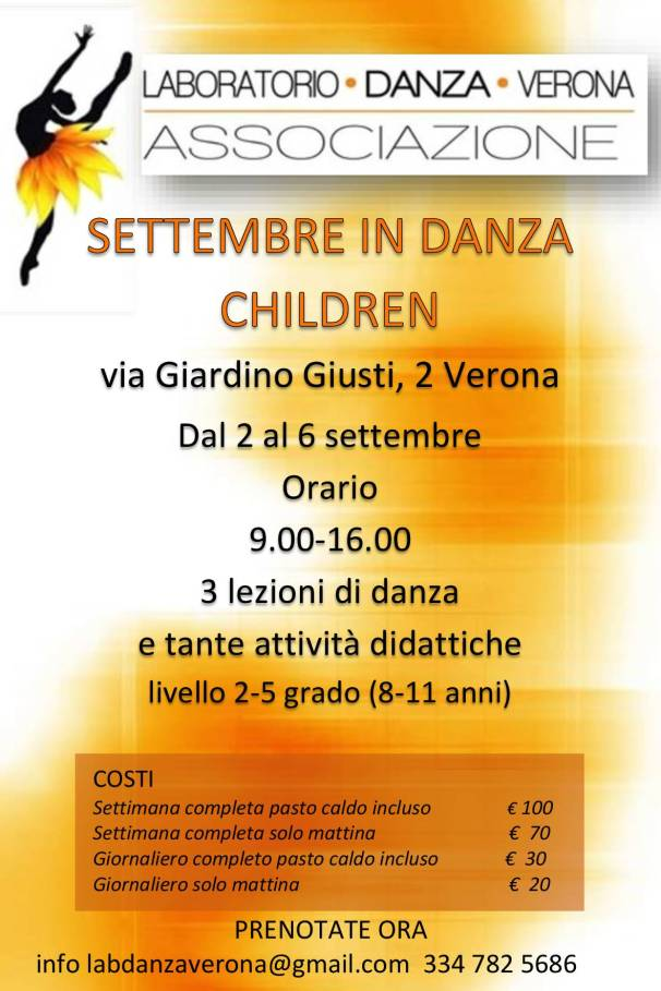 Cartolina Settembre in danza children